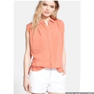 EUC Vince Cayenne Sleeveless Button Front blouse